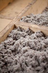 Cellulose insulation in floors